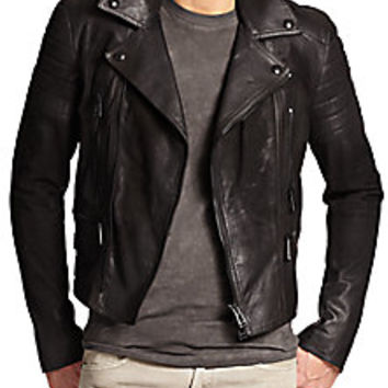 Belstaff - Phoenix Sueded Moto Leather Jacket - Saks Fifth Avenue Mobile