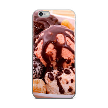 Chocolate Covered Ice Cream Dessert Food Lovers Brown iPhone 4 4s 5 5s 5C 6 6s 6 Plus 6s Plus 7 & 7 Plus Case
