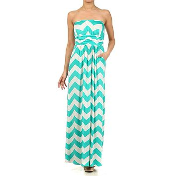Ocean Breeze Maxi Dress - Jade