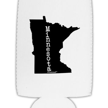 Minnesota - United States Shape Collapsible Neoprene Tall Can Insulator