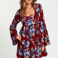Floral Babydoll Bell Dress