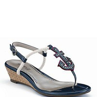 """Sperry Top-Sider """"Delray"""" Anchor Wedge Sandals - Shoes - Bloomingdales.com"""