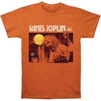 Janis Joplin Men's  Singing Slim Fit T-shirt Heather