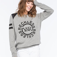 Young & Reckless Disorder Womens Sweatshirt Gray  In Sizes
