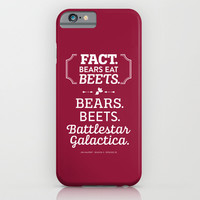 The Office Jim Halpert Quote - Bears. Beets. Battlestar Galactica. iPhone & iPod Case by Noonday Design