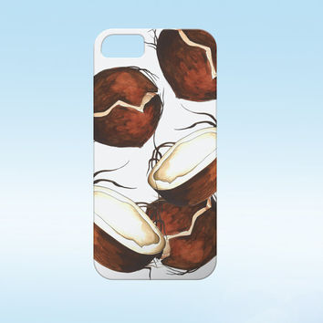 Coconut Iphone Case,Coconut phone case,Tropical iphone case, Iphone 6 case , Iphone 5 case, Iphone 4 case, iphone cover, coconut i6 phone