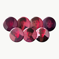 "MONSTA X ""ALL IN"" Group Set Buttons KPop"