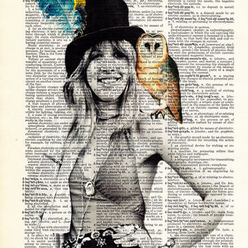 Stevie Nicks GYPSY-  Owl Gift POSTER Print- Fleetwood Mac- Gift For Wife- Husband GIFT- Birthday Gift-  Boyfriend Gift- Dorm Decor