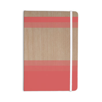 "Brittany Guarino ""Art Red"" Pink Wood Everything Notebook"