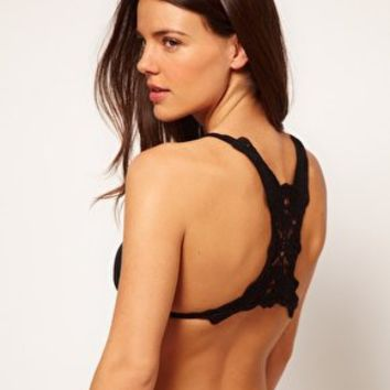 ASOS Crochet Back Triangle Bikini Top at asos.com