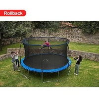 BouncePro 14' Trampoline with Enclosure and Game, Blue (Was $267) - Walmart.com
