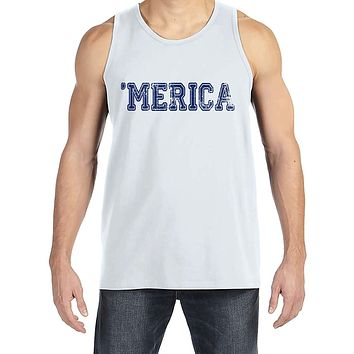 Custom Party Shop Men's Merica 4th of July White Tank Top