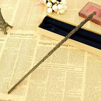 Metal Core Magical Wand Newest Deluxe COS Hermione Granger Magic Wands with Gift                      for Harri Potter Cosplay