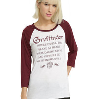 Harry Potter Gryffindor Sorting Hat Girls Raglan
