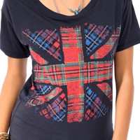 Plaid Union Jack Tee