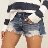 Low Rise 2 Inch Denim Shorts
