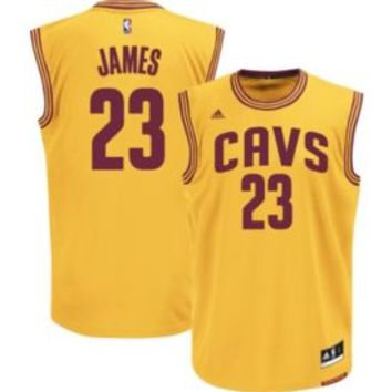 adidas Men's Cleveland Cavaliers LeBron James #23 Alternate Gold Replica Jersey | DICK'S Sporting Goods