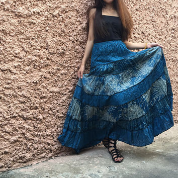 Boho Patchwork maxi Long Skirt Festival Bohemian Women clothing Hippie Gypsy Vegan Dance Circle skirt unique gift for her handmade funky