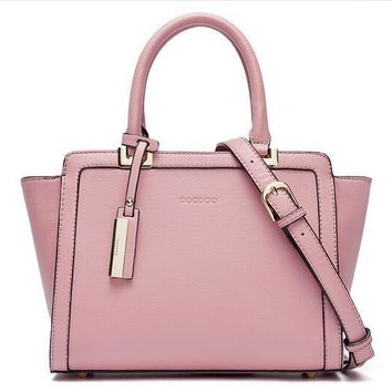 Minimal Multi-Color Pastel PU Leather Handbag + Shoulder Bag