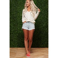 Cool And Comfy Long Sleeve Top (Ivory)