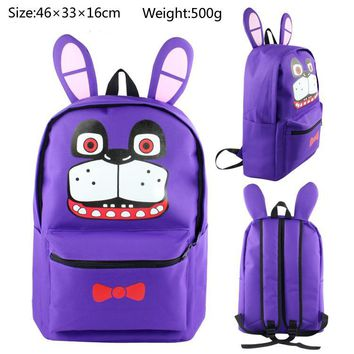 At Backpack For Teen Bonnie Fazbear Foxy Freddy Canvas Backpack Boys Girls School Bags Backpacks Kids Bags
