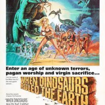 When Dinosaurs Ruled The Earth Movie Poster Standup 4inx6in