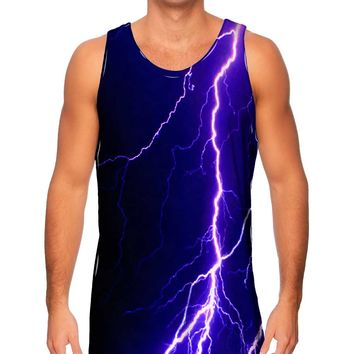 Yizzam- Violet Lightning Storm - New Men Tank Top Tee Shirt XS S M L XL 2XL 3XL