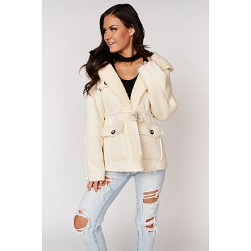 Looking For Somebody Faux Suede Jacket (Cream)