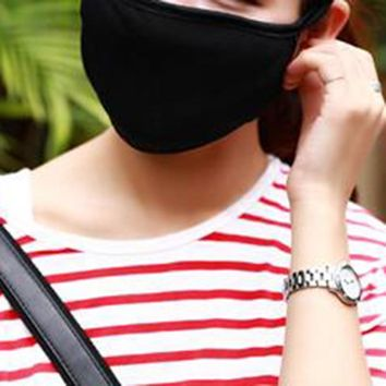 Hot 1 Pc Cotton Black Health Cycling Anti-Dust Mouth Face Unisex Mouth-Muffle Face Masks Warm Winter Fashion Accessory