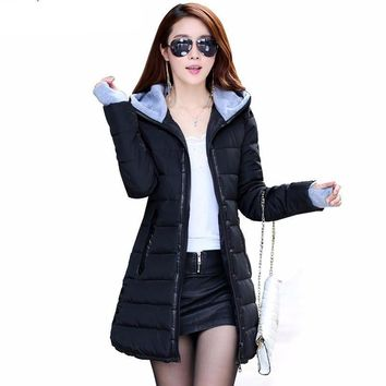 Women's Winter Cotton Jacket slim parka coat