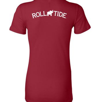 Official NCAA Venley University of Alabama Crimson Tide UA ROLL TIDE! Ladies Favorite Tee - 35AL-8