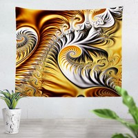Yellow Fractal Tapestry