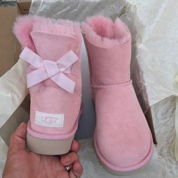 UGG Authentic Bailey bow pink boots G