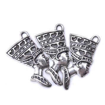 10pc/lot 40mm x 20mm Egyptian Goddess Charms Antique Silver Tone Beautifil Classic Design charms for jewelry making