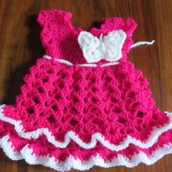 Baby Dress Pattern, Crochet Dress Pattern in 10 size: newborn to 4T, Ruffle Baby Dress Pattern, Easy Baby Dress Pattern, Baby outfit