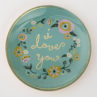 I Love You Round Glass Tray by Natural Life