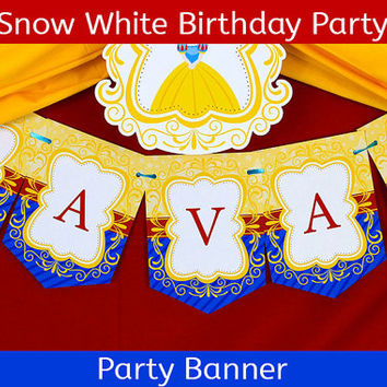 Snow White Party Banner / Snow White Birthday Banner / Snow White Birthday Party - BANNER