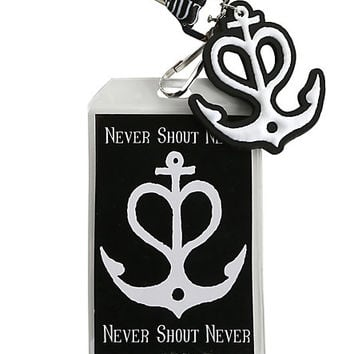 Never Shout Never Anchor Logo Lanyard