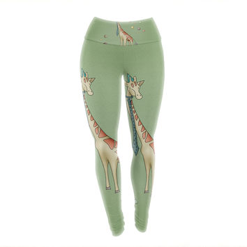 "Carina Povarchik ""Giraffe"" Yoga Leggings"