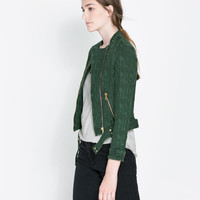 JACQUARD JACKET WITH ZIPS - Blazers - Woman | ZARA Canada