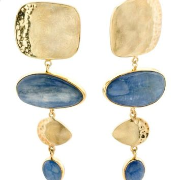 ADAMI & MARTUCCI 14k Gold Plate Sterling Silver Kyanite Earrings