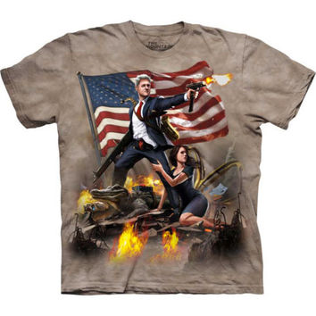 Bill Clinton T-Shirt by The Mountain Funny Patriotic USA President Tee S-3XL NEW