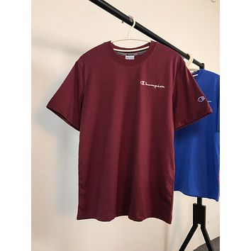Champion Embroidery logo Simple T-shirt