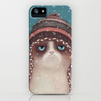 Grumpy under snow iPhone & iPod Case by Lime