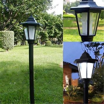 Outdoor Power LED Path Way Wall Landscape Mount Garden Fence Lamp Light