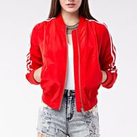 Too Cool for School Bomber Jacket - Red