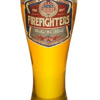 Vintage Firefighters United We Stand 23 oz Pilsner Glass