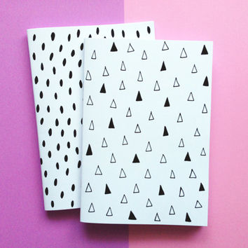 Notebook Geometric Pattern, A5 Notebook, Geometric Pattern Notebook, Handmade Sketchbook, Geometric Diary, Gifts For Stationery Addicts