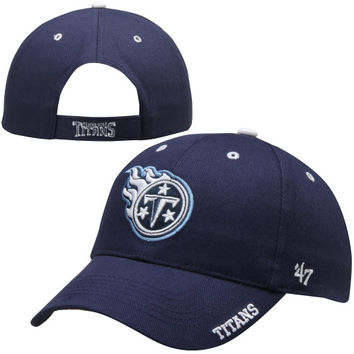 Tennessee Titans '47 Brand Frost Structured Adjustable Hat – Navy Blue