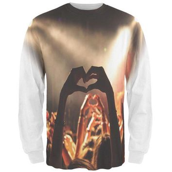 DCCKU3R Love in a Crowd All Over Mens Long Sleeve T Shirt